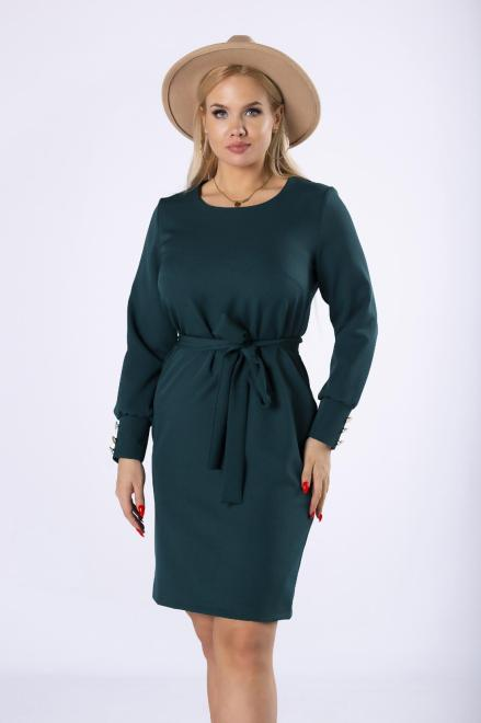 LENA  elegancka sukienka z wiązaniem w pasie M81185 Платье Зеленый оптом