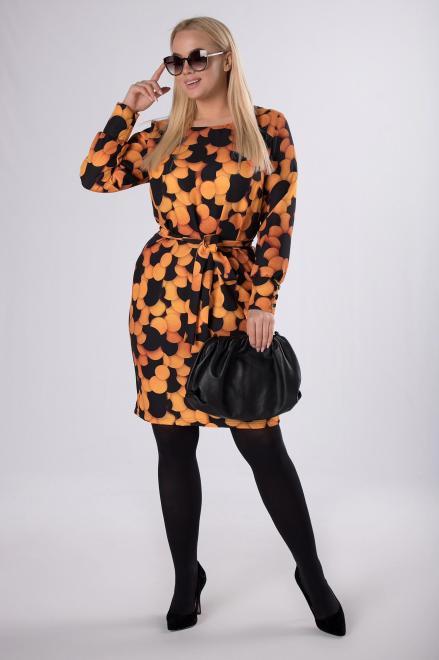 LENA  elegancka sukienka z wiązaniem w pasie M81185 Платье Multikolor оптом