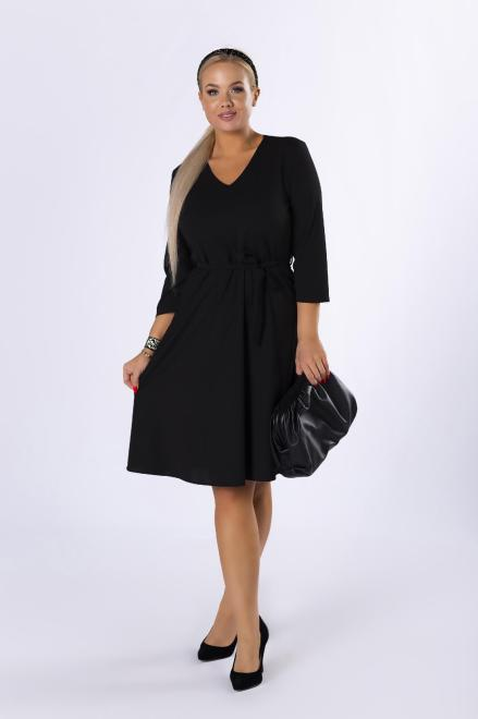 MODA DOROTHY  rozkloszowana sukienka z wiązaniem w pasie M82357 Платье Черный оптом