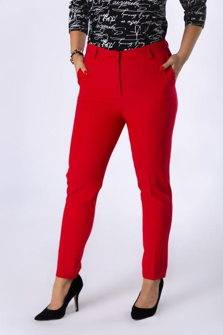 VENA COLLECTION  eleganckie spodnie cygaretki z nogawkami w kant M82308 Брюки Красный оптом