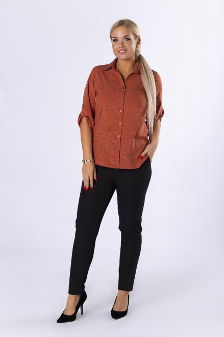 VENA COLLECTION  eleganckie spodnie cygaretki z nogawkami w kant M82308 Брюки Черный оптом