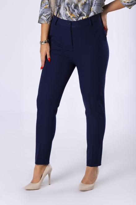 VENA COLLECTION  eleganckie spodnie cygaretki z nogawkami w kant M82308 Брюки Темносиний оптом