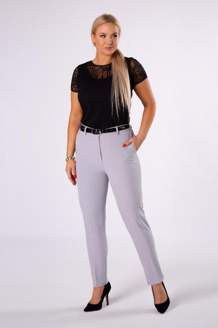 VENA COLLECTION  eleganckie spodnie cygaretki z nogawkami w kant M82308 Брюки Серый оптом