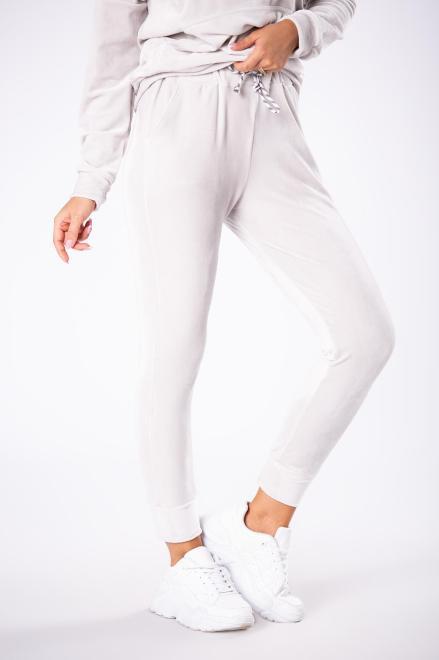 WOX  welurowe spodnie dresowe M80831 Брюки Серый оптом
