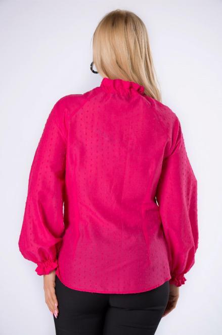 IMIOŁCZYK  bawełniana koszula z wiązaniem przy szyi M82636 Блузка Розовый оптом