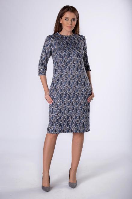 MERSI  dzianinowa sukienka z rozcięciami przy dekolcie M82780 Платье Multikolor оптом