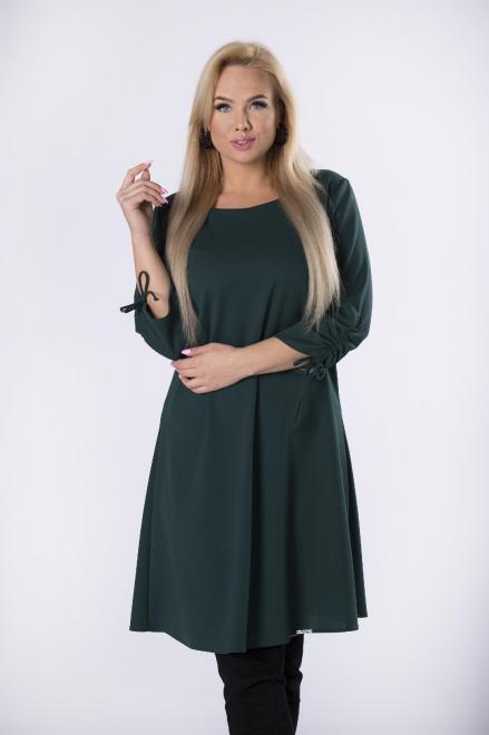 MODA DOROTHY  sukienka o kroju litery A z marszczniem przy rękawach M76022 Платье Зеленый оптом
