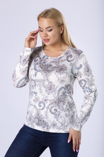 MODA DOROTHY  dzianinowa bluzka z długim rękawem M82564 Блузка Кремовый оптом