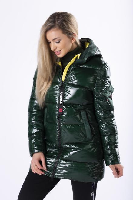 MODO  pikowana kurtka z kapturem M82904 Регулар Зеленый оптом