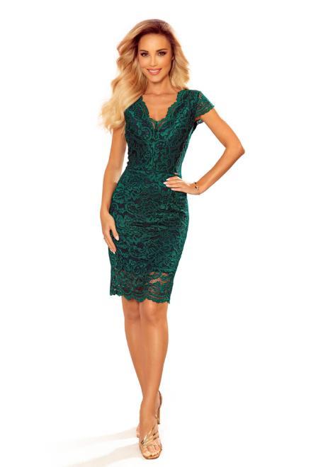 Numoco  koronkowa sukienka z dekoltem w serek M82869 Платье Зеленый оптом