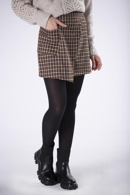 LENA  mini spódnica w kratkę  M82801 Юбка Multikolor оптом