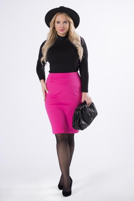 Bien Fashion  ołówkowa spódnica mini M70802 Юбка Розовый оптом