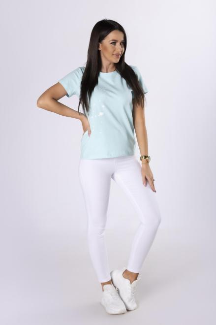 LA PERLA  bawełniany t-shirt z nadrukiem M83034 Блузка Зеленый оптом
