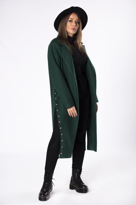 WOX  płaszcz z rozcięciami po bokach M65898 Плащ Зеленый оптом