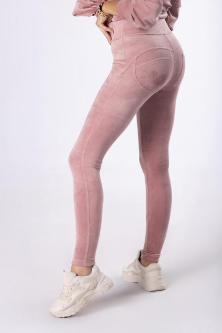MIELCZARKOWSKI  legginsy z weluru M82429 Брюки Розовый оптом