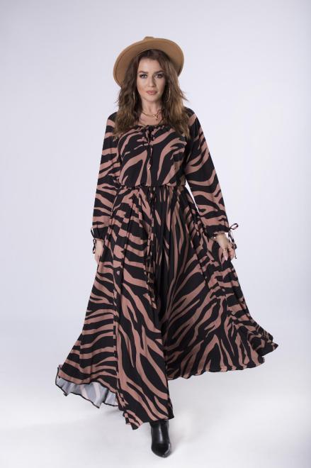 EXCLUSIVE  sukienka maxi z wiązaniem  M82541 Платье Multikolor оптом