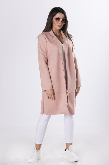 MIELCZARKOWSKI  płaszcz z imitacji zamszu M83241 Плащ Розовый оптом