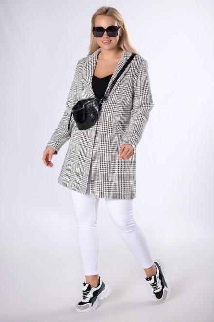 BB  płaszcz w pepitkę M83360 Жакет Multikolor оптом