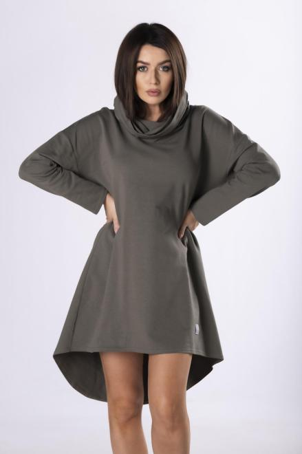 IWA  dresowa sukienka z wydłużonym tyłem  M83308 Платье Зеленый оптом