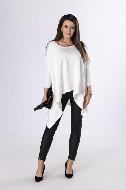 MIELCZARKOWSKI  sweter z wydłużonymi bokami  M83370 Свитер Кремовый оптом