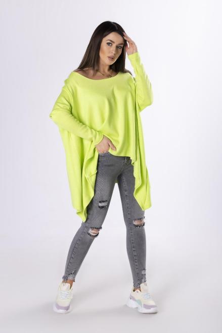 MIELCZARKOWSKI  sweter z wydłużonymi bokami  M83370 Свитер Зеленый оптом