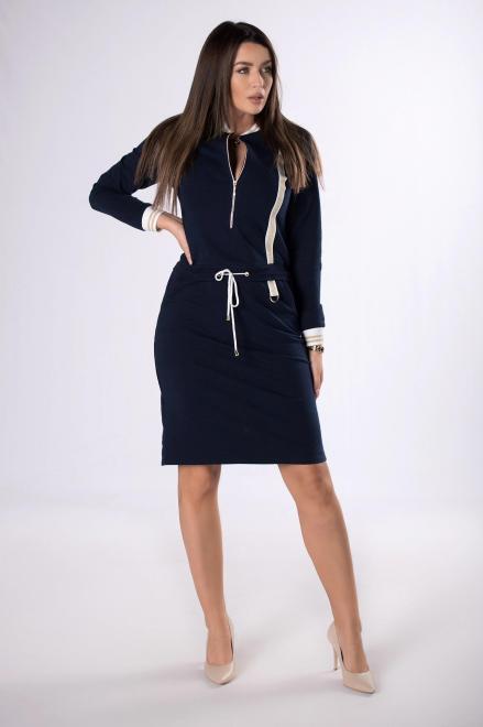 MERSI  dzianinowa sukienka z suwakiem  M83311 Платье Темносиний оптом