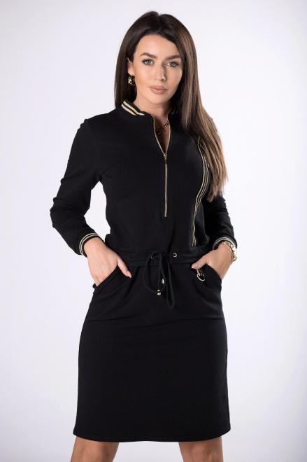 MERSI  dzianinowa sukienka z suwakiem  M83311 Платье Черный оптом