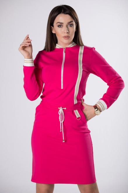 MERSI  dzianinowa sukienka z suwakiem  M83311 Платье Розовый оптом
