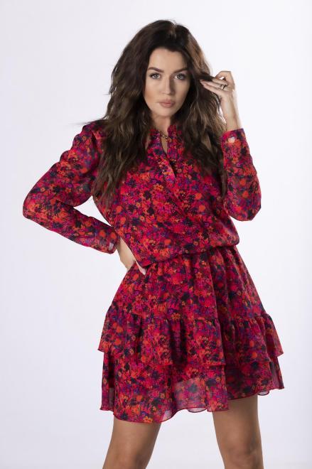 MERSI  wzorzysta sukienka z szyfonu  M83156 Платье Multikolor оптом
