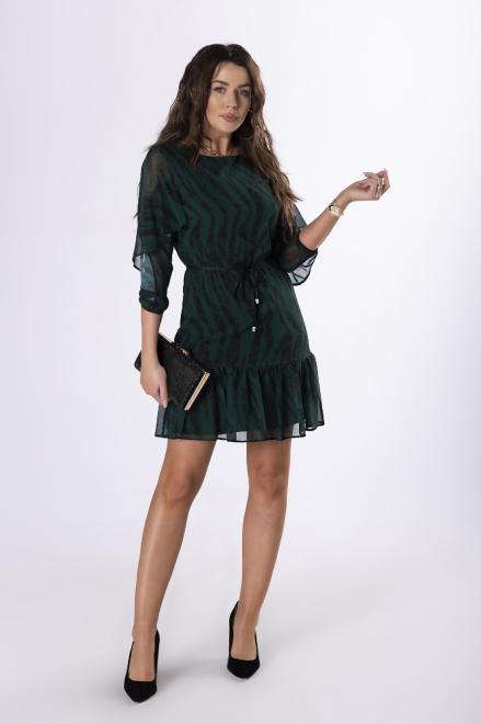 BODOO  szyfonowa sukienka z wiązaniem w pasie  M79053 Платье Зеленый оптом