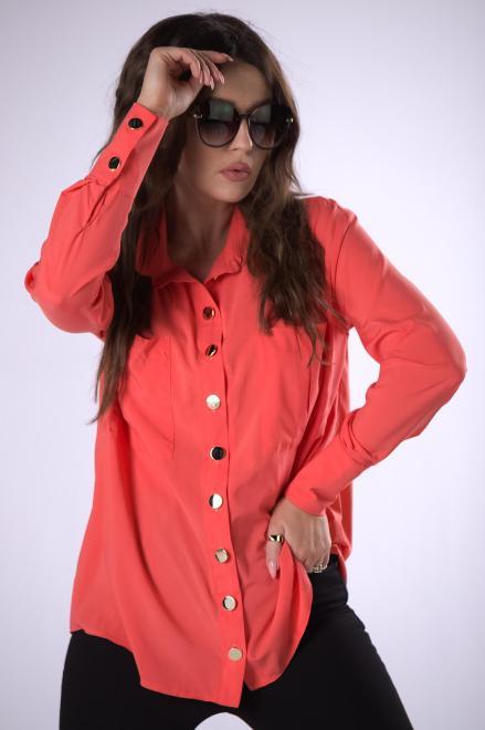 MIELCZARKOWSKI  klasyczna koszula z połyskującymi guzikami  M83269 Рубашка Оранжевый оптом