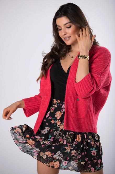NATI  casualowy sweter bez zapięcia  M82236 Свитер Красный оптом