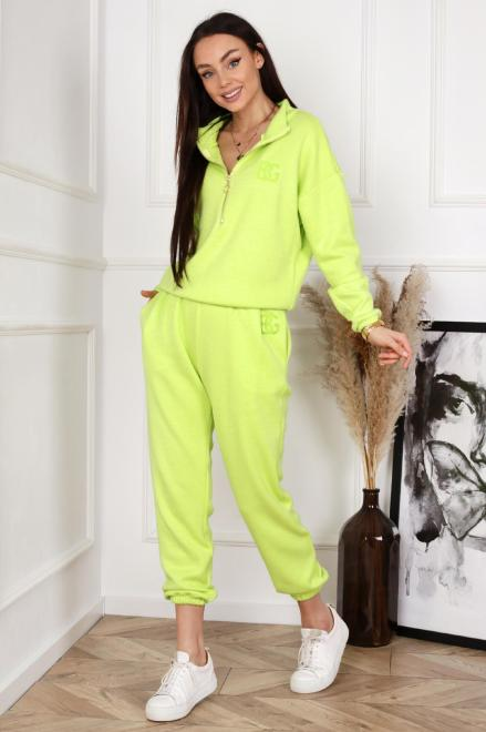 BRANDENBURG  dzianinowy komplet dresowy  M83464 Трикотажные брюки Зеленый оптом