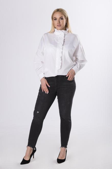 Rivabella  koszula z żabotem M83447 Рубашка Белый оптом