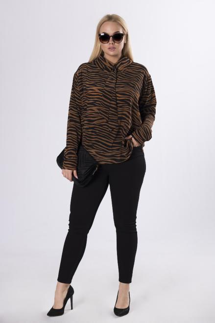 Rivabella  wzorzysta koszula oversize M83456 Рубашка Multikolor оптом