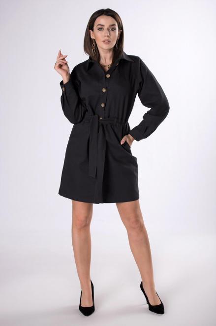 BODOO  jeansowa sukienka szmizjerka M83413 Платье Черный оптом