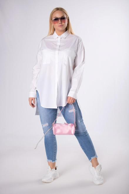 Rivabella  koszula z wydłużonym tyłem  M83457 Рубашка Белый оптом