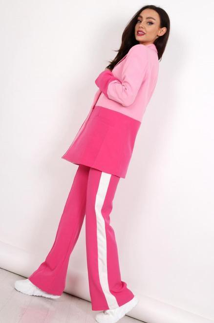 MISS CITY OFFICIAL  dwukolorowe spodnie w kant  M83516 Брюки Розовый оптом
