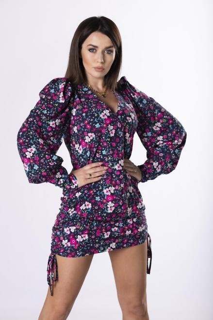 MERSI  sukienka ze ściągaczami na bokach  M83368 Платье Темносиний оптом