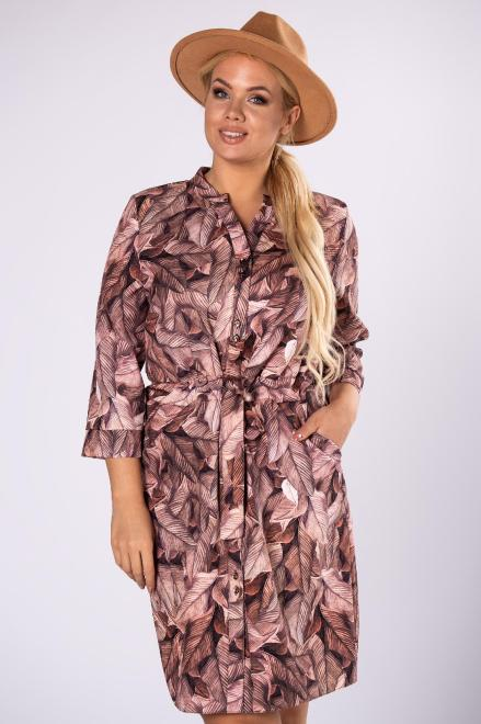 MARCELLO  sukienka szmizjerka z wiązaniem M81503 Платье Multikolor оптом