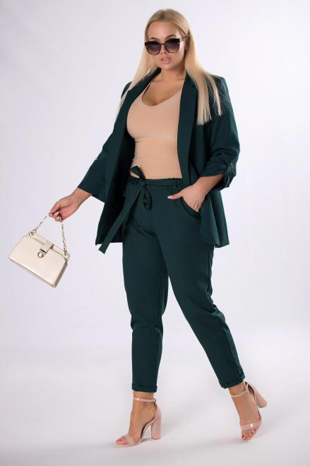 ANET  spodnie z talią paper bag M83534 Брюки Зеленый оптом