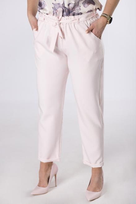 ANET  spodnie z talią paper bag M83534 Брюки Розовый оптом