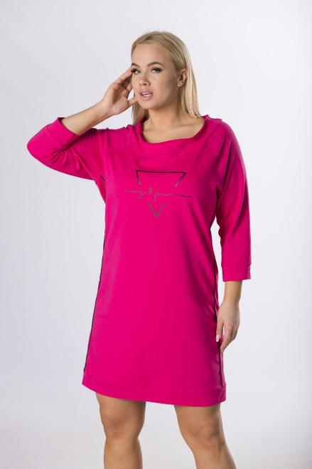 BELLEZZA  dresowa sukienka z nadrukiem M83486 Платье Розовый оптом