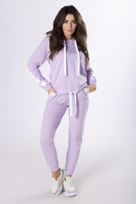 MARCELLO  dres z lampasami M79891 Трикотажные брюки Фиолетовый оптом