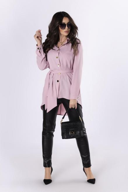 LA TOYA  koszula z wydłużonym tyłem M83573 Рубашка Розовый оптом