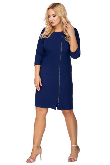 MARCELLO  taliowana sukienka z ozdobnym suwakiem M72925 Платье Темносиний оптом