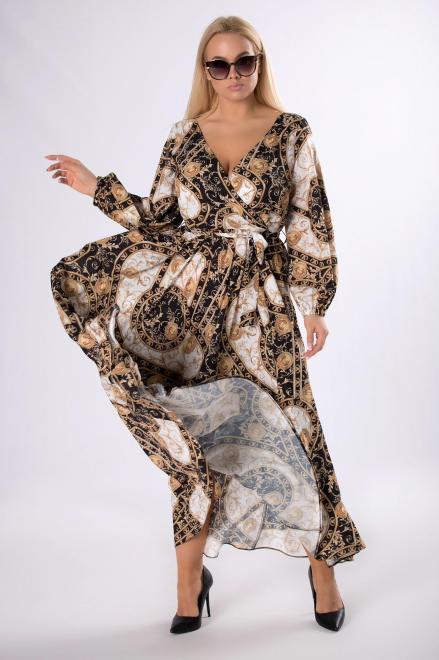 MARTEX  wzorzysta sukienka maxi M83483 Платье Multikolor оптом