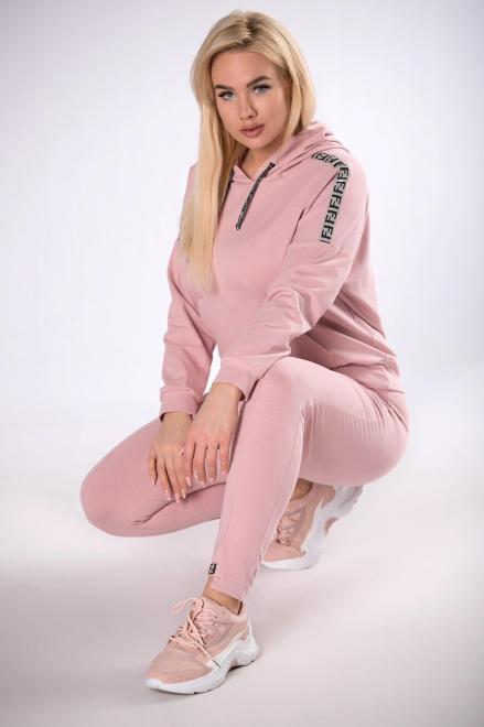 BOG-MAR  dres z brokatowymi lampasami M83630 Трикотажные брюки Розовый оптом