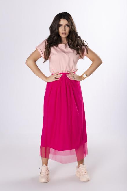 Bien Fashion  tiulowa spódnica maxi M83539 Юбка Розовый оптом