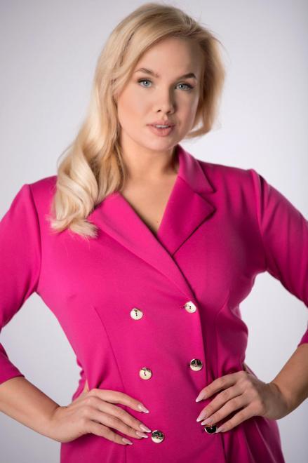 TRYNITE  sukienka o żakietowym kroju M82266 Платье Розовый оптом